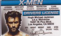 Hugh Jackman X-men Wolverine of Marvel Comics Hulk 181 ID card Drivers License