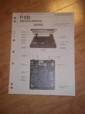 Kenwood Service Manual~P-100 Turntable~Original