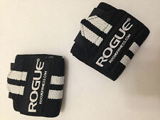 "Rogue Fitness Wrist Wraps, Short 12"", Black, Power/Weight Lifting, Crossfit WOD"