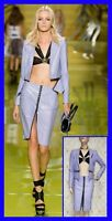 S/S 2014 look #16 NEW VERSACE LILAC LEATHER SUIT and BLACK TOP 38 - 2