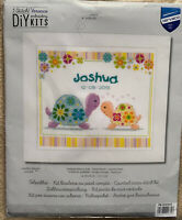Colorful Turtles Birth Announcement Vervaco Counted Cross Stitch Kit 14 Count