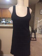 NWT Free People Black Body Con Tank Dress Size L Cris Cross Back Detail