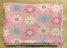 BabyGear Baby Gear Plush Blanket Pink White Blue Teal Flowers Lovey