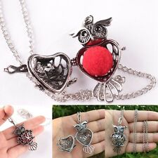 Owl Hollow Perfume Essential Oils Aromatherapy Diffuser Locket Necklace Jewelry