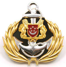 Singapore Navy Officer Peak Cap Badge - New
