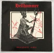 """Autographed Hellhammer (Celtic Frost) """"Apocalyptic Raids"""" 12-inch EP"""