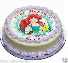 Ariel little mermaid Cake topper edible image icing   REAL FONDANT