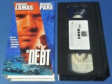 THE DEBT / BACK TO EVEN (VHS) RARE ACTION w Michael Paré (EDDIE & THE CRUISERS)