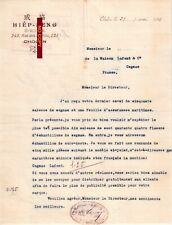 Document du 29/05/1926 HIÊP-SENG Epicerie - Cholon VIETNAM