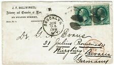 1873 Brooklyn, NY cancel on cover to Germany, 3c Banknotes