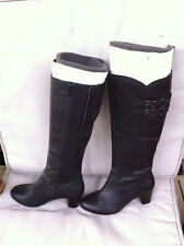 STYLISH HUSH PUPPIES BLACK KNEE HIGH RIDING BOOTS SIZE 7 NEAR NEW