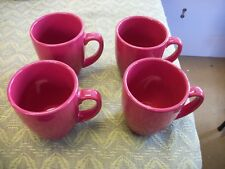 Corelle Coordinates Stoneware Coffee Mugs ~ Cafe Red ~ Set of 4 Matching Cups