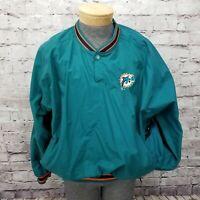 VTG 90s Starter Miami Dolphins NFL Size XL Pro Line Pullover Windbreaker Jacket