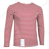 Genuine Russian OMON Telnyashka - 100% Cotton Striped Long Sleeved T-Shirt New