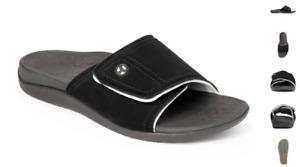 Vionic Kiwi Black/Grey Slide Comfort Sandal Men's US sizes 5-13 NEW!!!