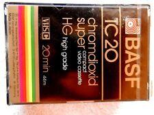 Basf Tc20 Chromdioxis Super Compact Video Cassette Vhsc 20 Min 44M Tape-New