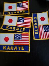 Lot of 4 Usa Karate Japan Martial Arts Patch 5inch by 3inch