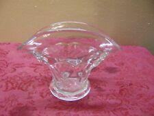 "Fan Shaped "" Vase Clear Depression Glass"