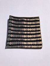 Men's Polka Dot Pocket Square with Tan Trim