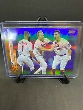 2020 Topps Series 1 New York Mets Team Card #202 Rainbow Foil SP Pete Alonso