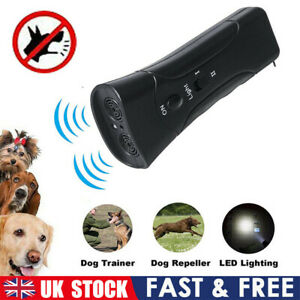 LED Pet Dogs Anti Barking Stop Bark Training Repeller Control Device Ultrasonic