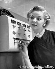 Women's Fragrance Vending Machine - 1950s - Vintage Photo Print