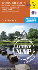 Yorkshire Dales ACTIVE Explorer Map - OL 2 - Laminated