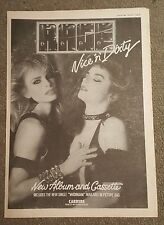 Rage Nice n Dirty  1982 press advert Full page 30 x 42cm mini poster
