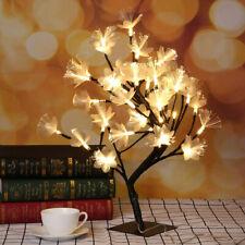 Pre-Lit Light Up Cherry Blossom Bonsai Tree 48LED USB Christmas Decor Table Lamp