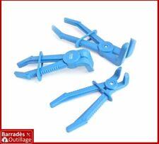 Jeu 3 pinces courbe à clamper tuyaux flexibles, durites freins, refroidissement
