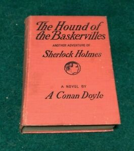 1902 THE HOUND OF BASKERVILLES Sherlock Holmes Arthur Conan Doyle Special Ed HC