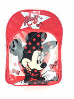 Offiziell Disney Minnie Maus Lippenstift rot Kindergarten Rucksack Schultasche