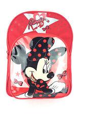 Oficial Disney Minnie Mouse Lápiz Labial Rojo Guardería Mochila Bolso escolar