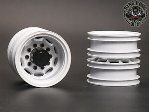 "Metal 1.75"" Rear Wheels (Oval&White) (2 pcs) for Tamiya 1/14 R/C Tractor Trailer"