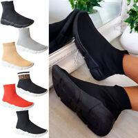 Womens Running Ankle Sock Trainers Ladies Walking Sneaker Mesh Sport Shoes Size