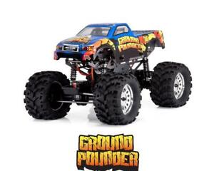 Redcat Ground Pounder 1/10 Electric RTR Monster Truck (Blue) [RER03130]