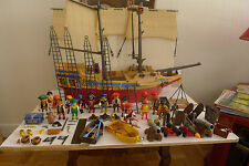 playmobil bateau pirate 4290 à completer + pirates + accessoires  5 photos