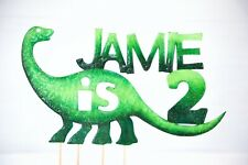 Dinosaurio De Zarzamora Blanco y Verde Comestible Mezcla Fiesta Para Decoración De Pasteles Fiesta De Cumpleaños
