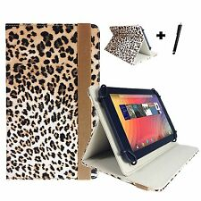 "7 inch Tablet Design Case for Polaroid Infinite 7 - 7"" Tiger Print Brown"