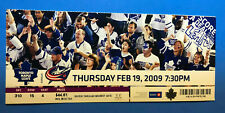 Ticket stub -Toronto Maple Leafs VS Columbus Blue Jackets Feb 9, 2009 -Loss 4-3