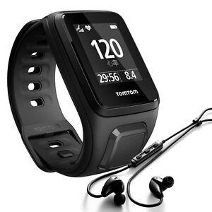 TomTom Spark Cardio + Music Uhr S Multisport Herzfrequenz schwarz + Kopfhörer