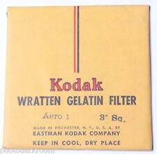 "Kodak Aero 1 Wratten Gelatin Filter - 76mm x 76mm 3x3"" Square - NEW Old Stock"