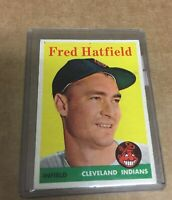 1958 TOPPS FRED HATFIELD CLEVELAND INDIANS 1958 TOPPS CARD #339 Vintage Baseball