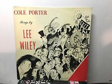 "LEE WILEY - Cole Porter Songs ~LIBERTY MUSIC SHOP 10"" 1003 {nm orig} ->RARE"