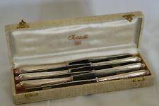 POMPADOUR SET 6 Christofle  Silver-plate Dinner Knives FRANCE