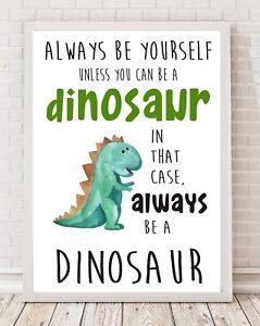 Dinosaur Nursery Bedroom Playroom Gift A4 Poster Print PO167