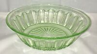 """Hocking COLONIAL KNIFE & FORK * GREEN * 9"""" LARGE BERRY BOWL*"""