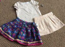 NEW Genuine Kids Oshkosh B'gosh Girls Outfit 4pc Set -Sz 2T 3T Skirts Tops NWT