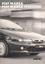 Fiat Marea Saloon & Weekend Specification 1997 UK Market Brochure SX ELX HLX