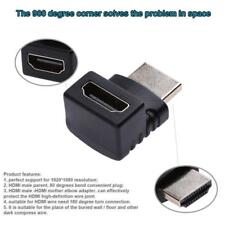 Adapter Converter Connector 1080P HDMI Male to Video AV Female Right Angle Elbow